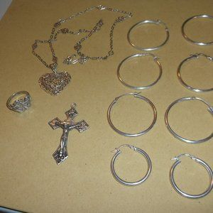 8 pieces of silver Jewlery  925